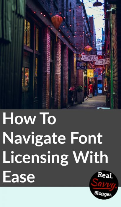 How To Navigate Font Licensing With Ease | Real  Savvy  Blogger